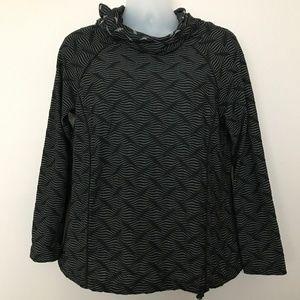 LOGO Lotus Black Wave Hooded Sweatshirt - L